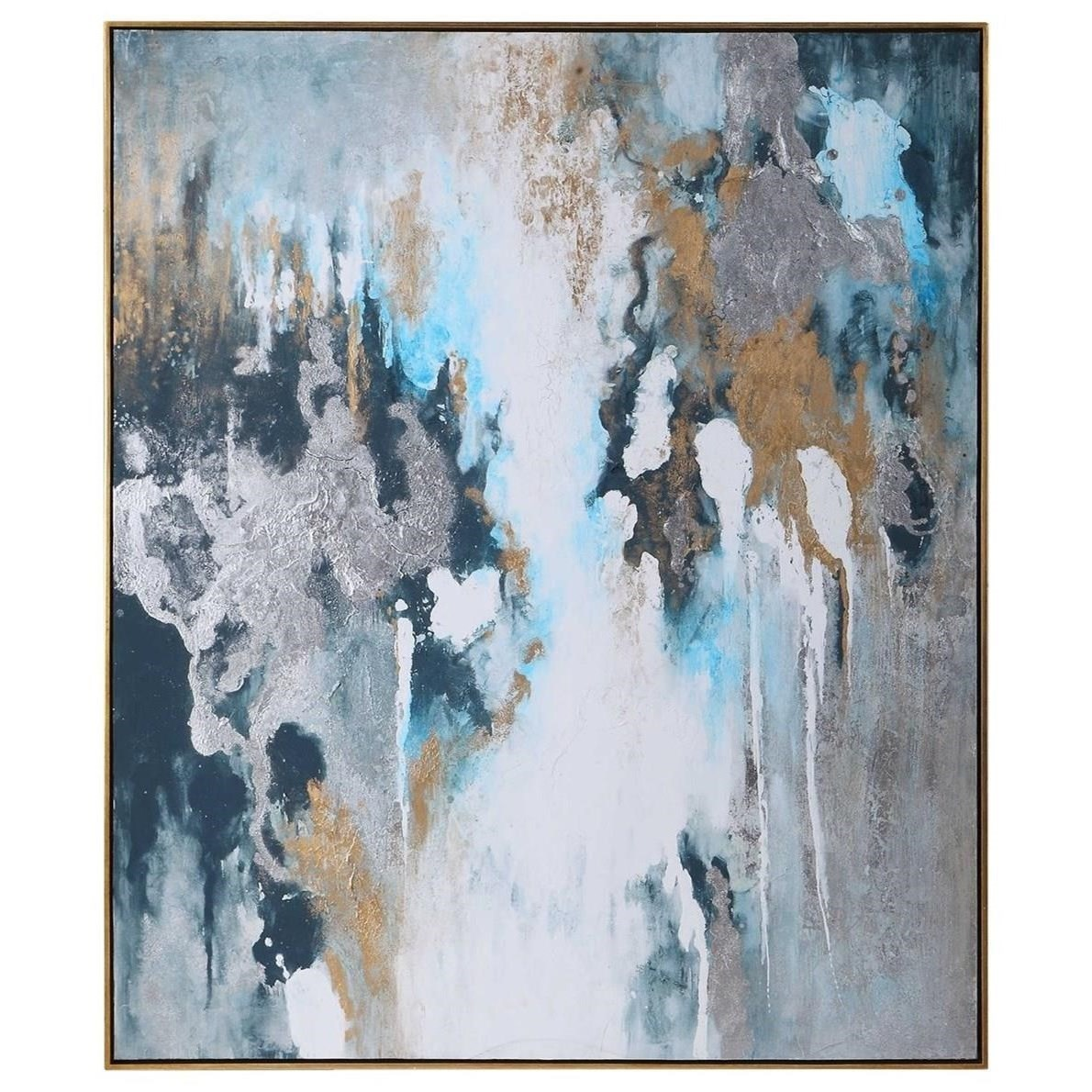 Art Stormy Seas Hand Painted Canvas by Uttermost at Suburban Furniture