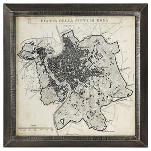 City Plan of Rome Print Map