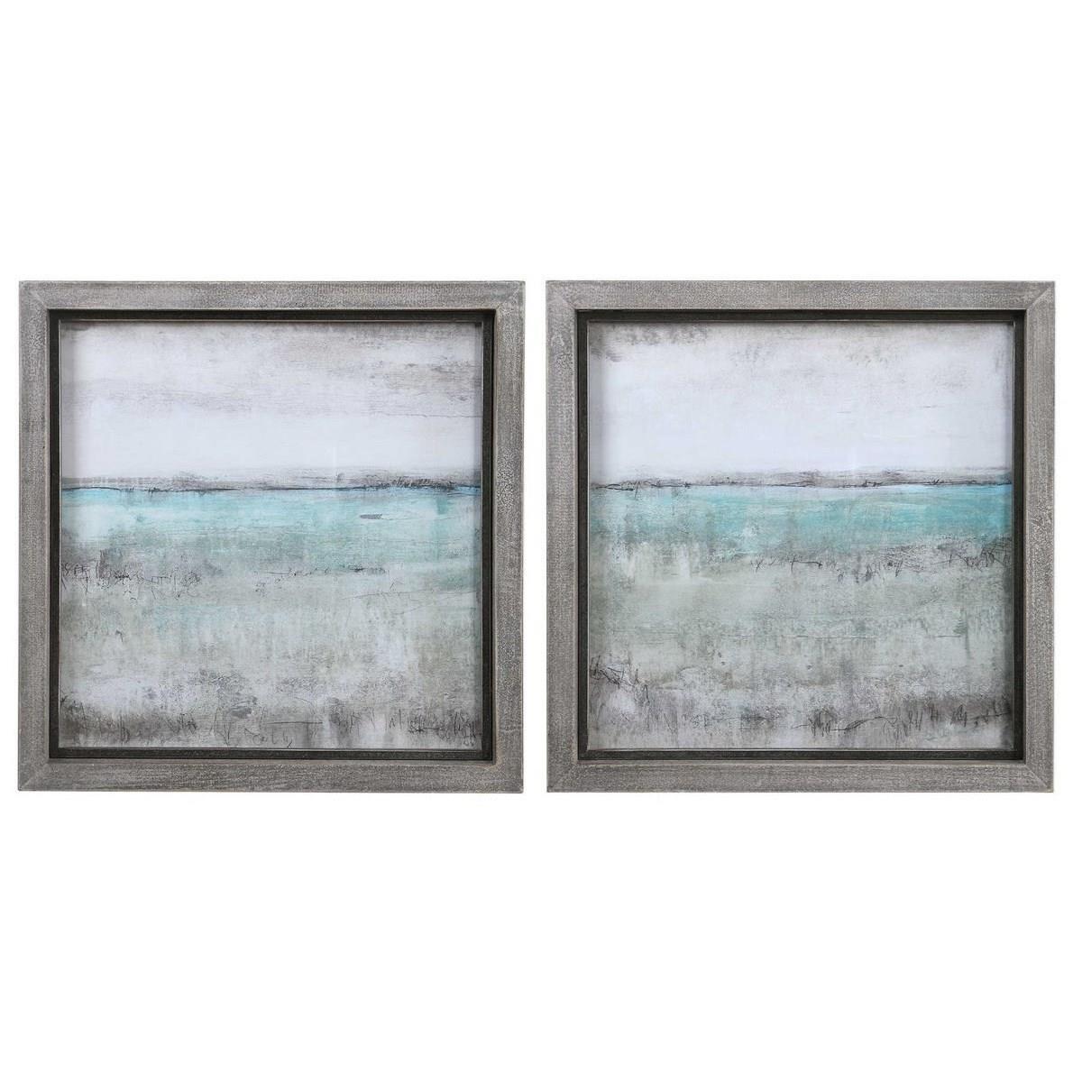 Framed Prints Aqua Horizon Framed Prints, Set/2 by Uttermost at Story & Lee Furniture