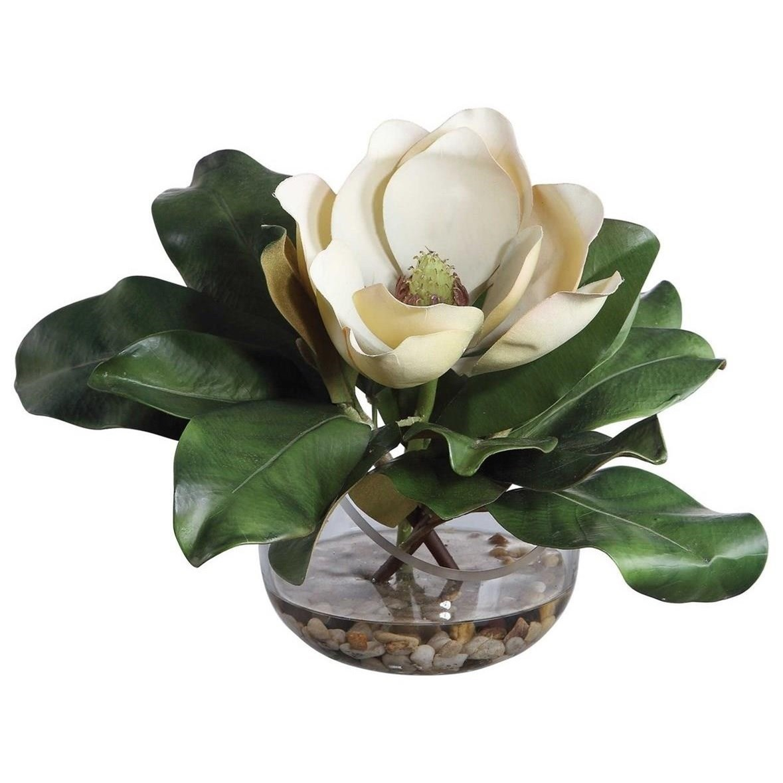 Botanicals Celia Silk Magnolia Accent by Uttermost at Suburban Furniture