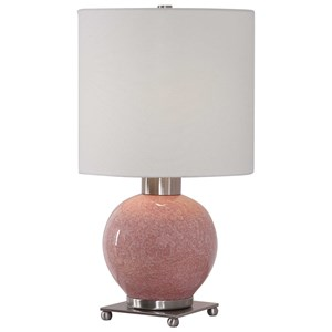 Soft Pink Buffet Lamp