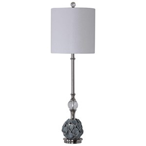 Elody Blue Gray Buffet Lamp