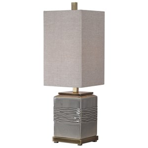 Covey Gray Glaze Buffet Lamp