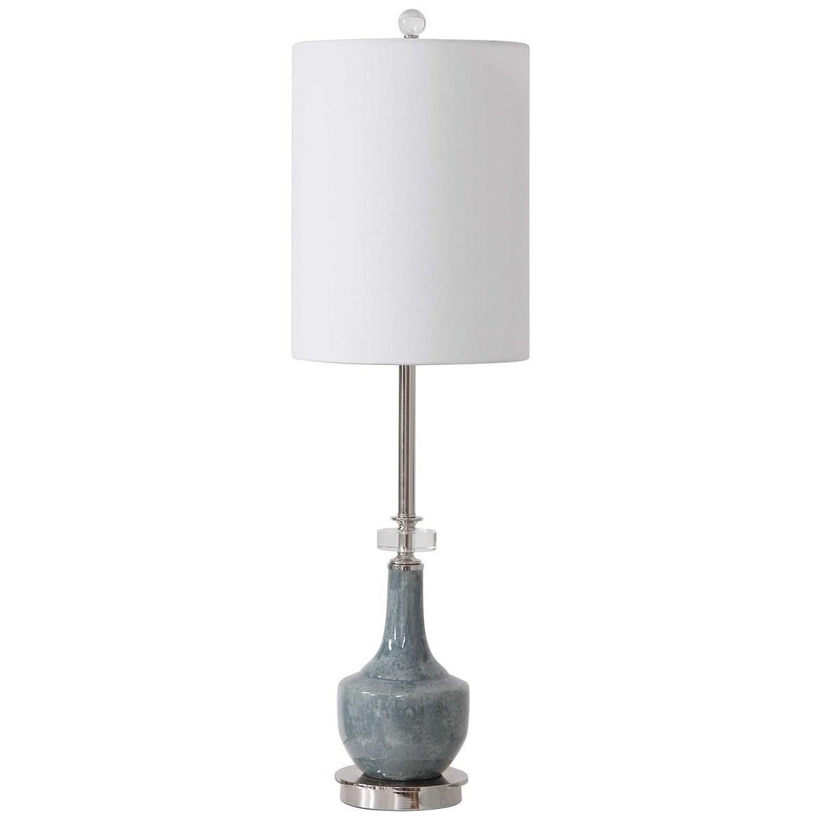 Buffet Lamps Piers Mottled Blue Buffet Lamp by Uttermost at Mueller Furniture