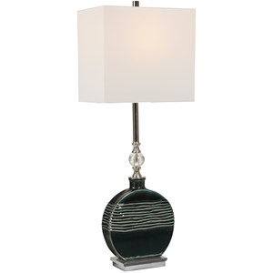 Recina Dark Teal Buffet Lamp