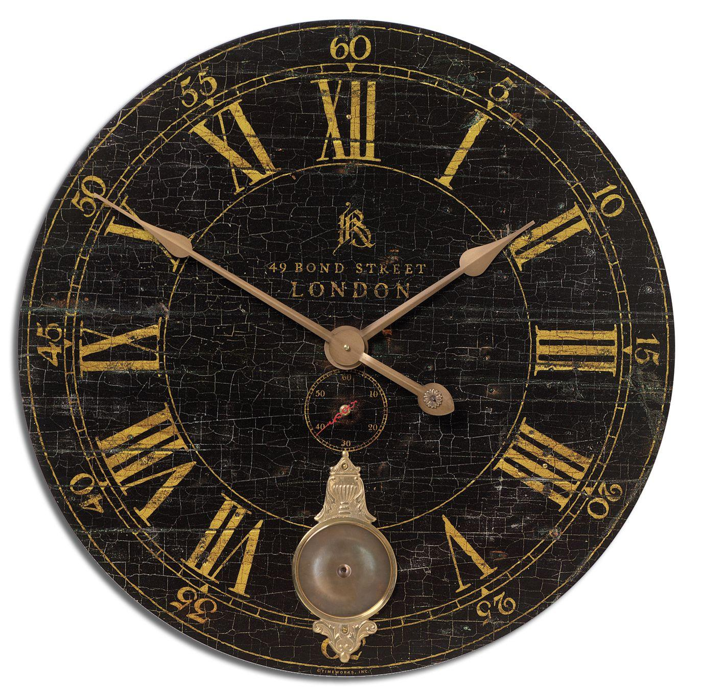 "Clocks Bond Street 30"" Clock by Uttermost at Story & Lee Furniture"