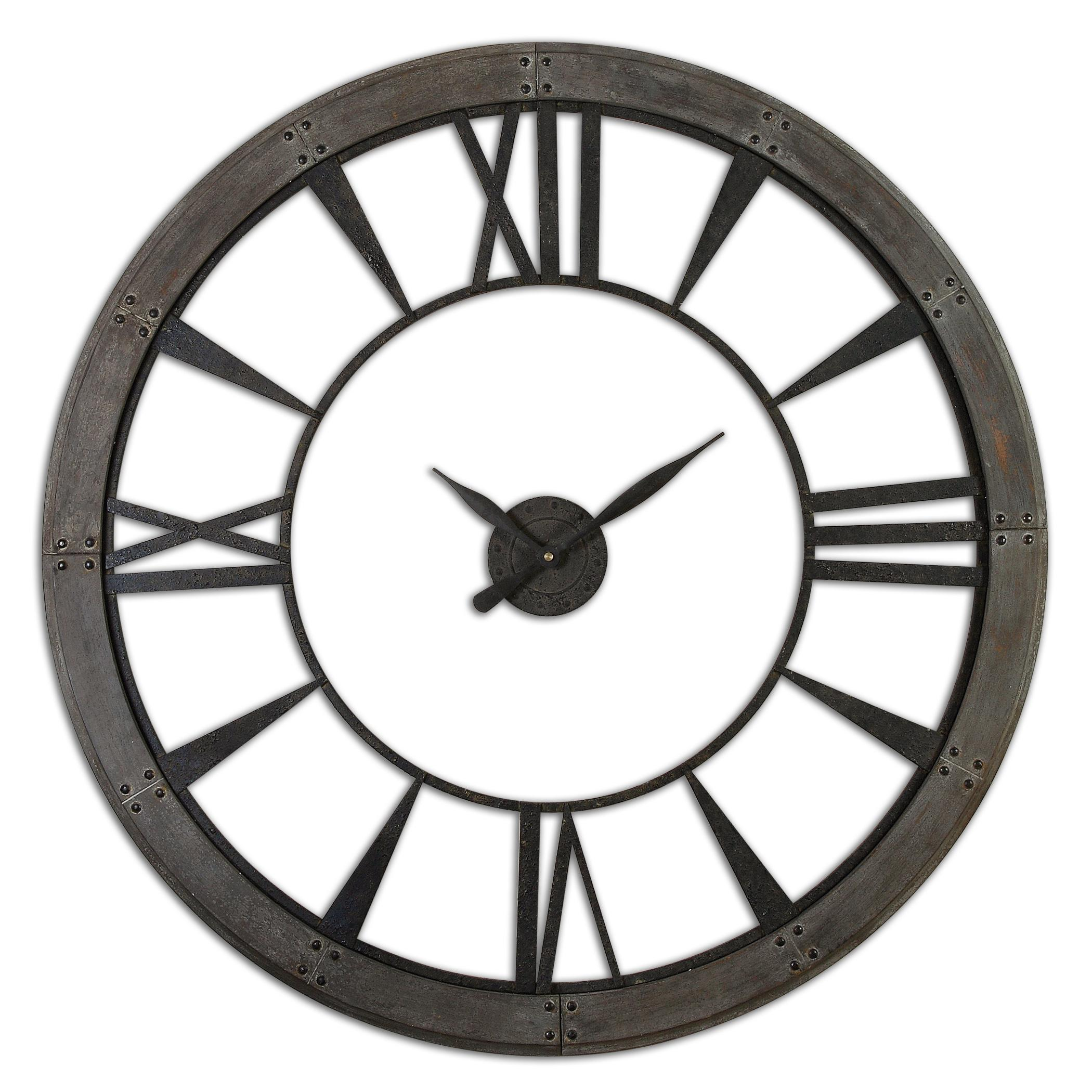 Clocks Ronan Wall Clock, Large by Uttermost at Miller Waldrop Furniture and Decor