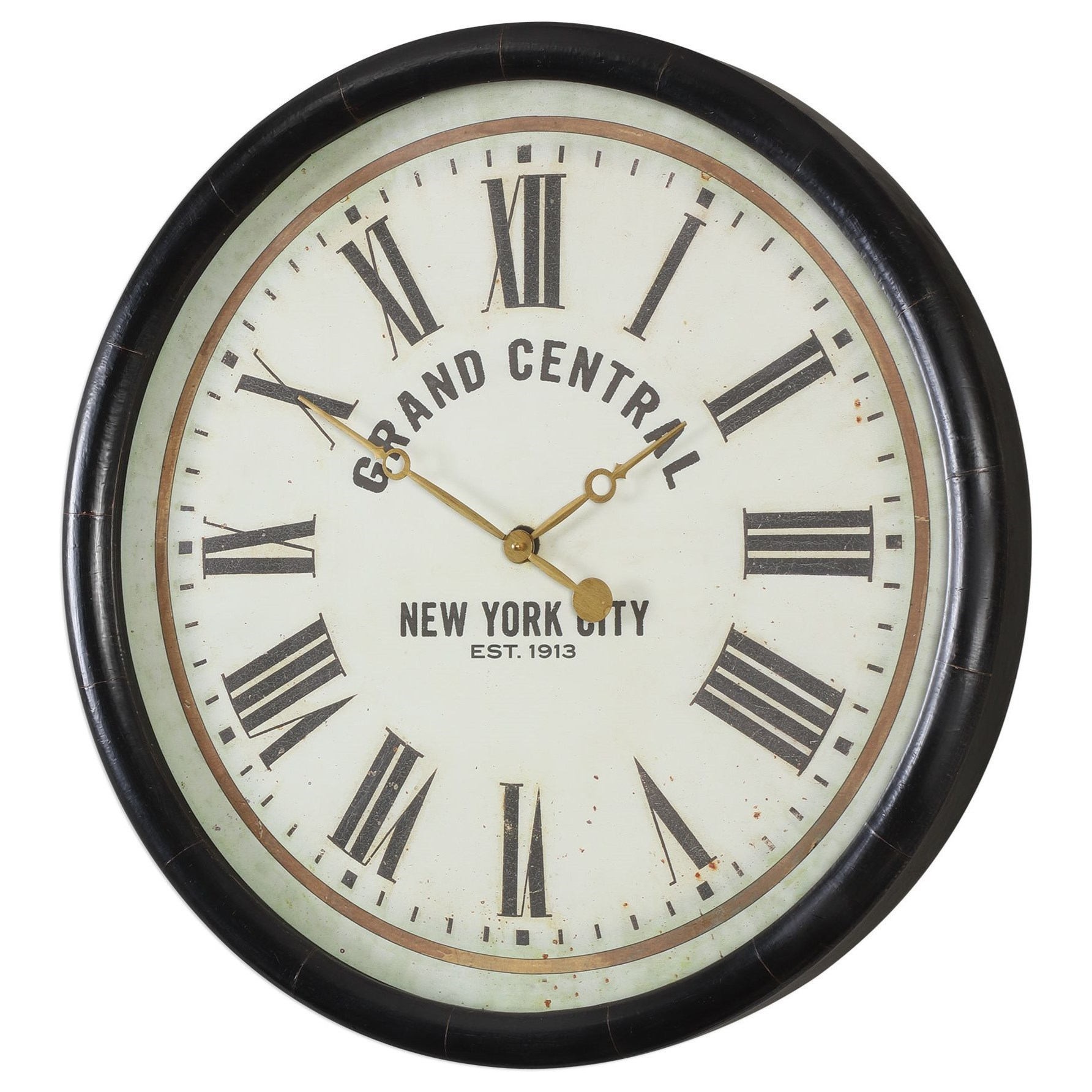 """Clocks Uttermost Leonor """"Grand Central"""" Wall Clock by Uttermost at Miller Waldrop Furniture and Decor"""
