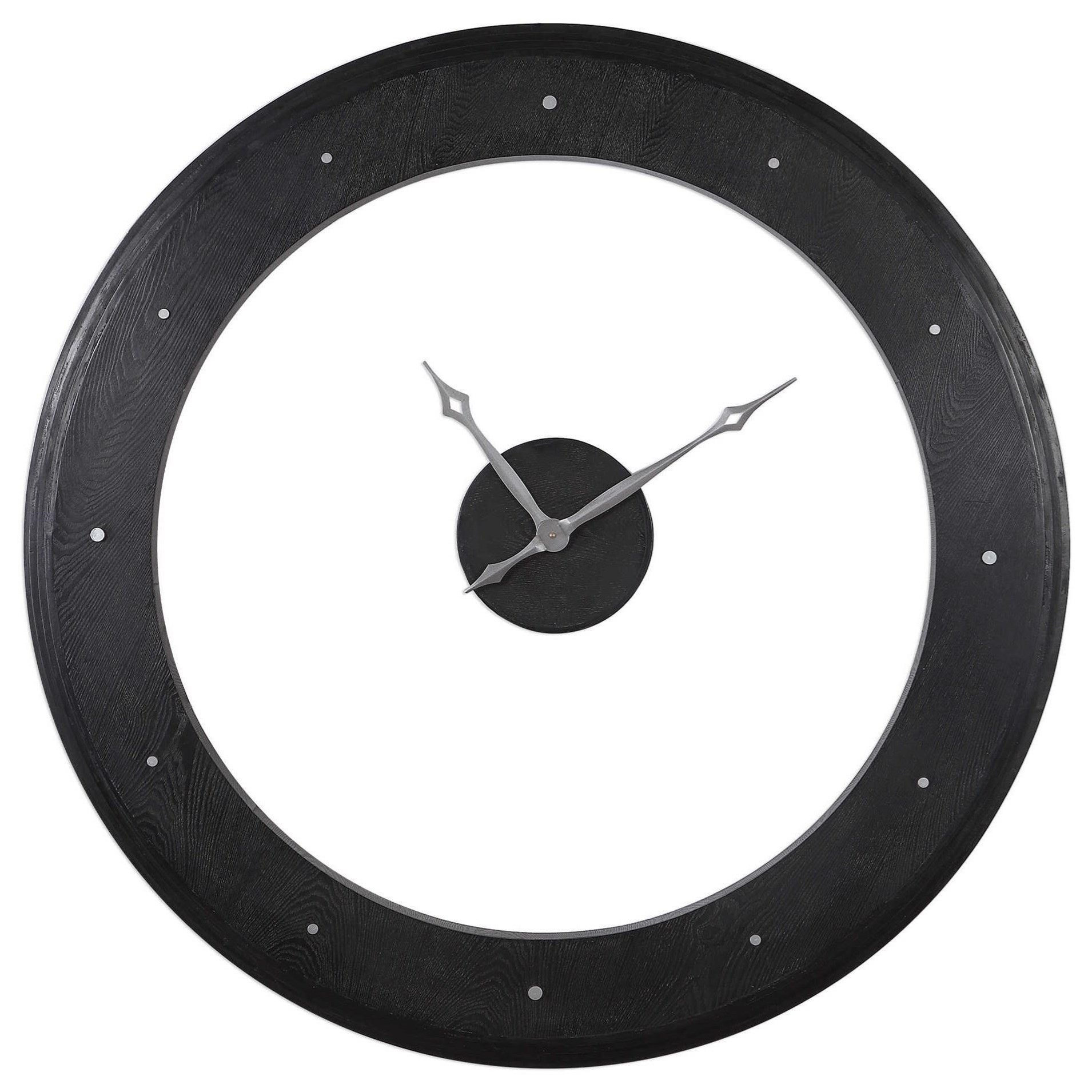 Clocks Ramon Wooden Wall Clock by Uttermost at Miller Waldrop Furniture and Decor