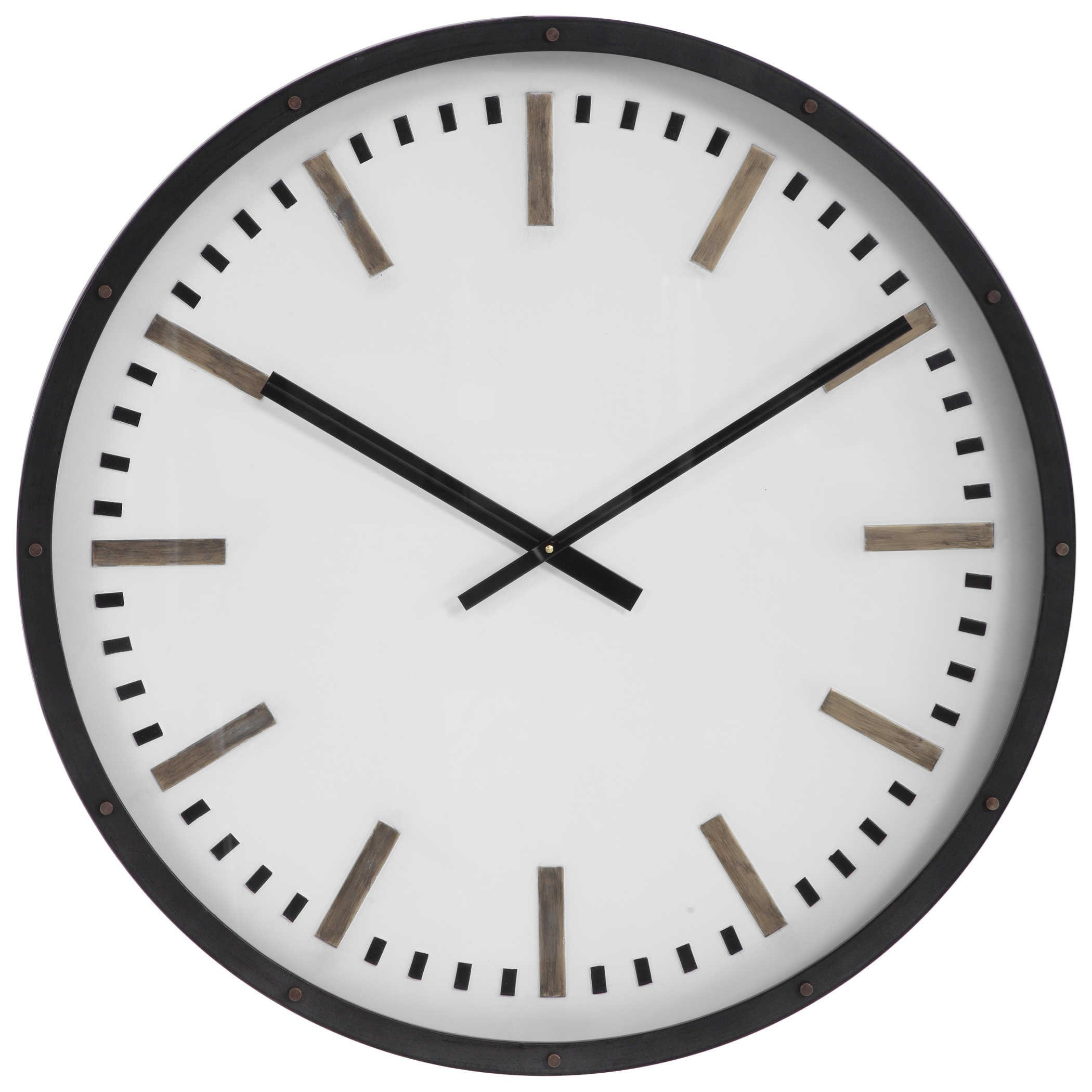 Clocks Fleming Large Wall Clock by Uttermost at Miller Waldrop Furniture and Decor