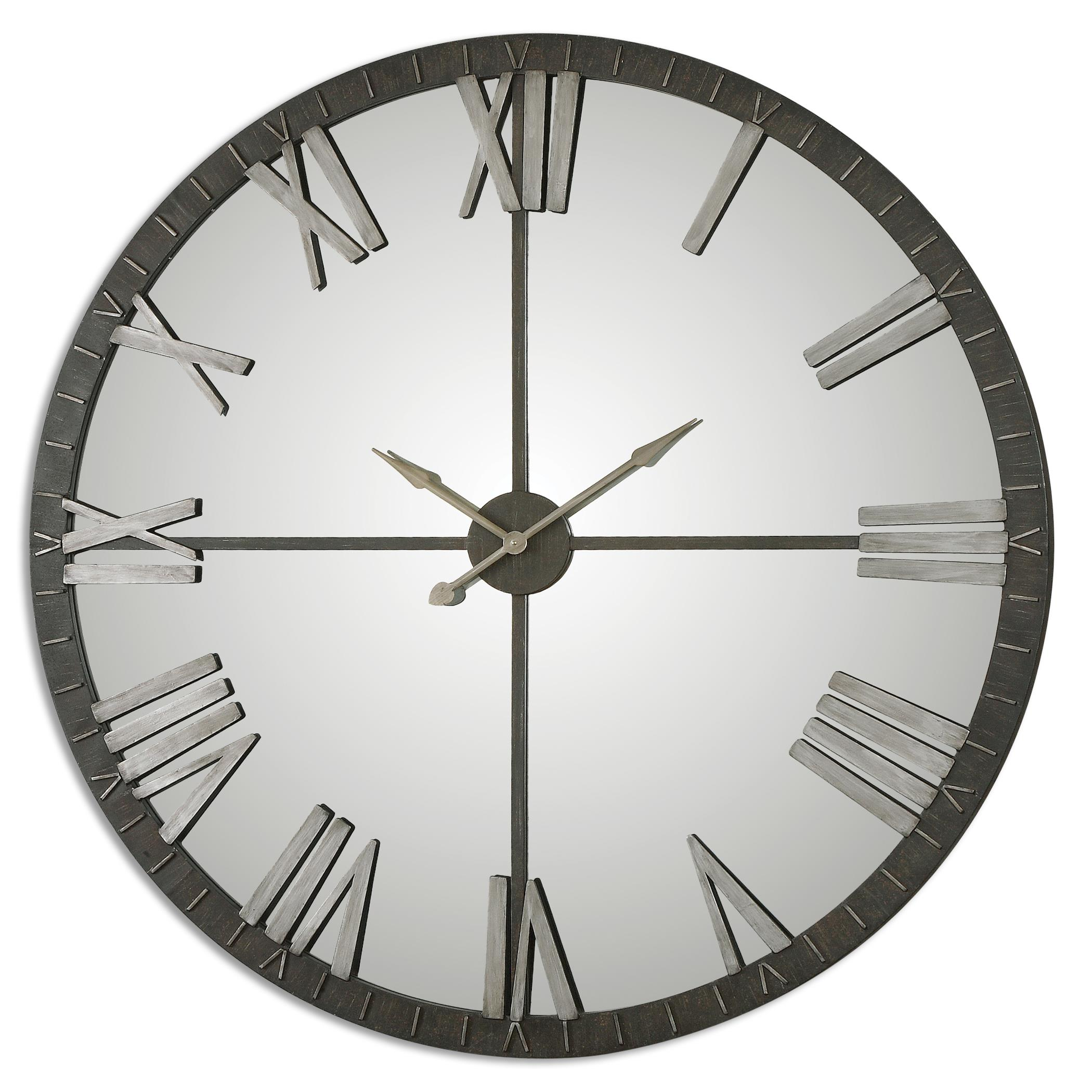 Clocks Amelie Large Bronze Wall Clock by Uttermost at Miller Waldrop Furniture and Decor