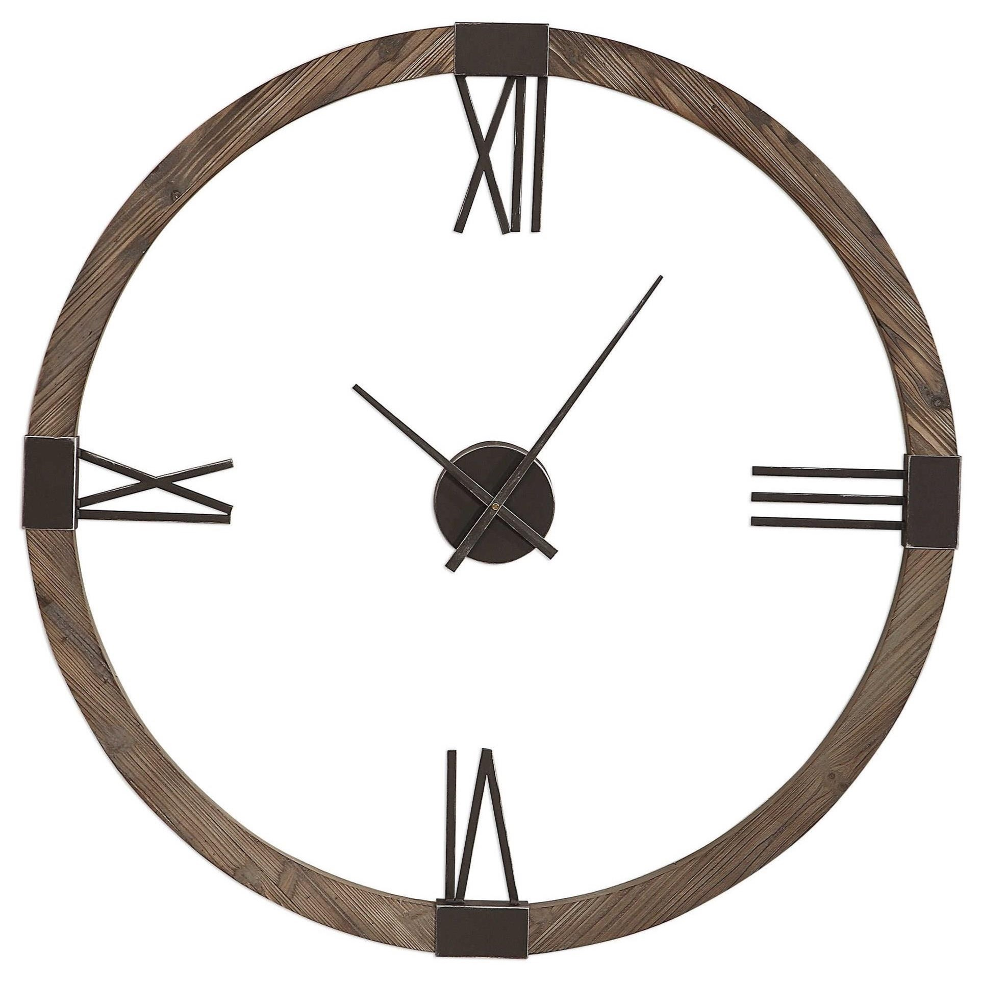 Clocks Marcelo Modern Wall Clock by Uttermost at Esprit Decor Home Furnishings