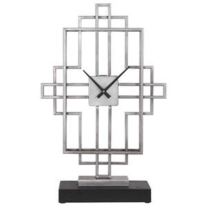 Vanini Silver Tabletop Clock