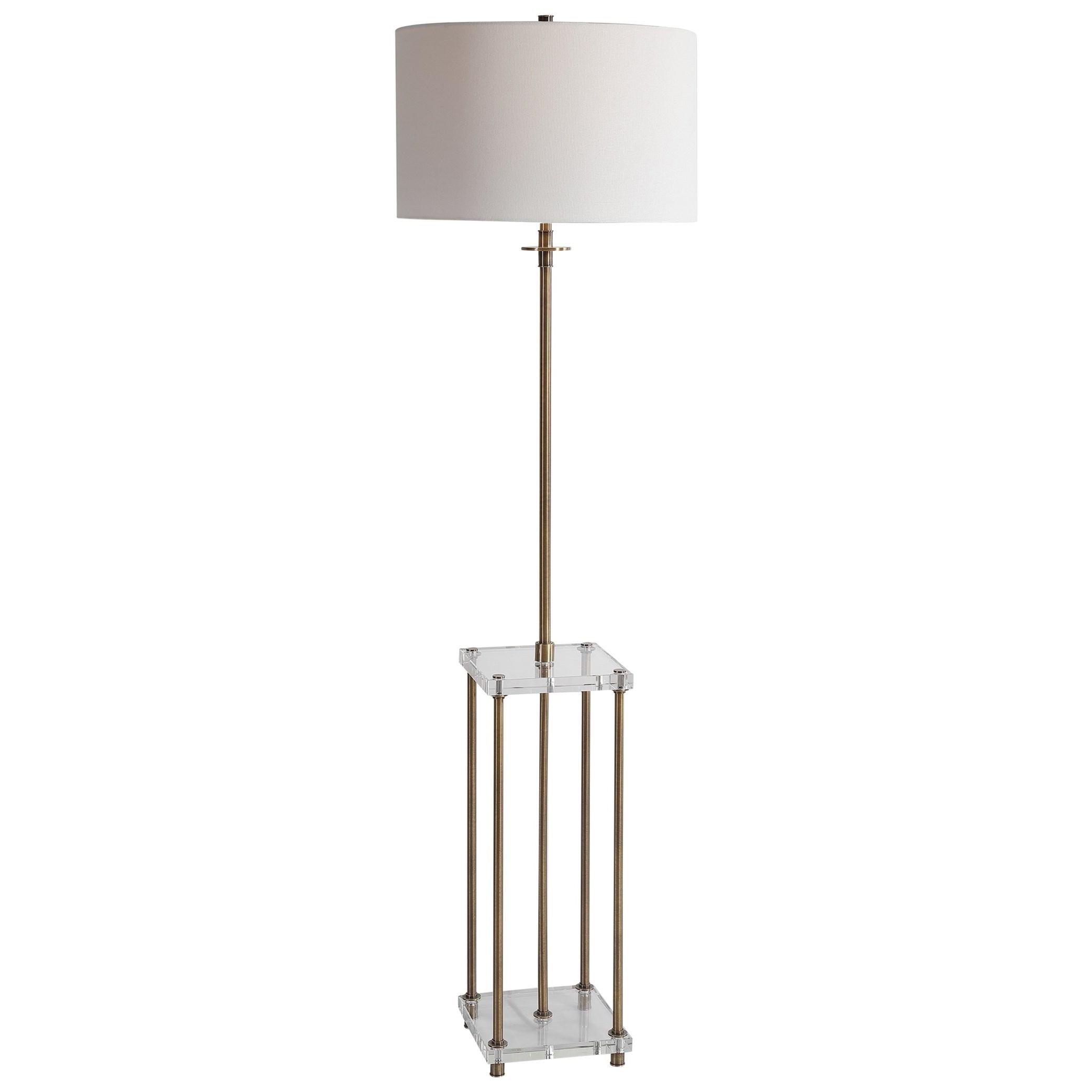 Floor Lamps Palladian Antique Brass Floor Lamp by Uttermost at Mueller Furniture