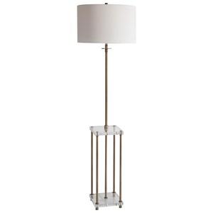 Palladian Antique Brass Floor Lamp