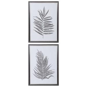 Silver Ferns Framed Prints, S/2