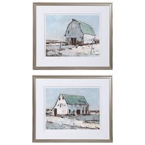 Plein Air Barns Framed Prints