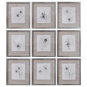 Neutral Floral Gestures Prints