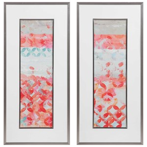 Valentine Framed Abstract Prints, S/2
