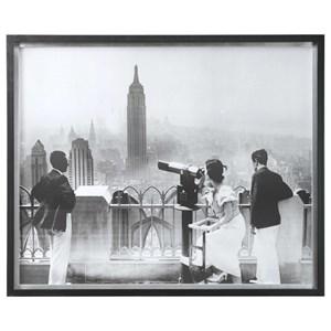 Manhattan View Vintage Print