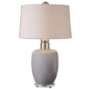 Uttermost Table Lamps Ovidius Gray Glaze Lamp