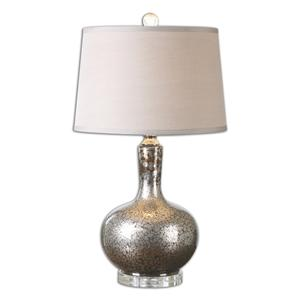Uttermost Table Lamps Aemilius Gray Glass Table Lamp