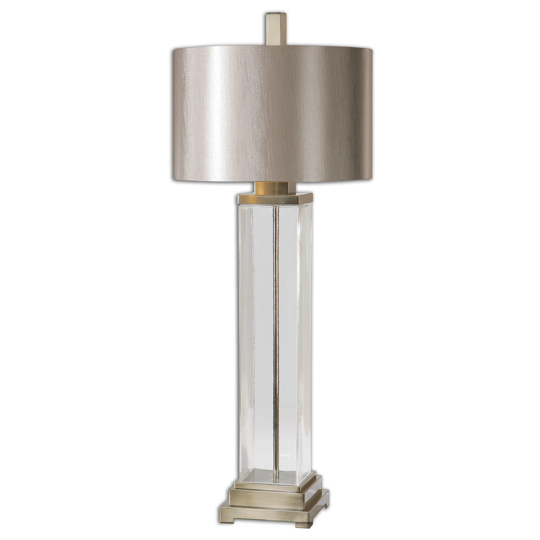 Table Lamps Drustan Clear Glass Table Lamp by Uttermost at Furniture Superstore - Rochester, MN