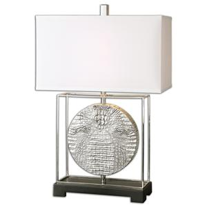 Uttermost Table Lamps Taratoare Polished Nickel Lamp
