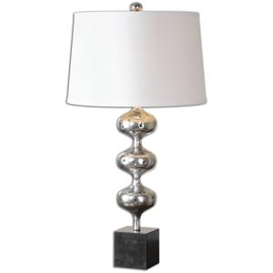 Uttermost Table Lamps Cloelia Polished Silver Lamp