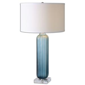 Uttermost Table Lamps Caudina Frosted Blue Glass Lamp