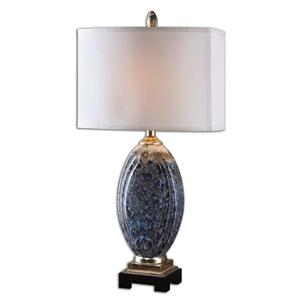 Uttermost Table Lamps Blue Latah Lamp