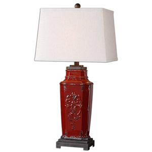 Uttermost Table Lamps Centralia Red Lamp