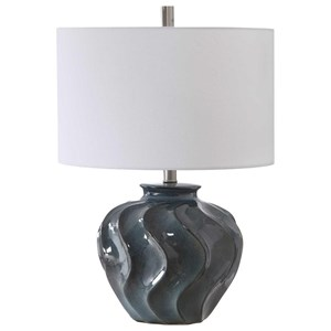 Aquilina Aged Blue Table Lamp