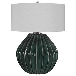 Rhonwen Green Table Lamp