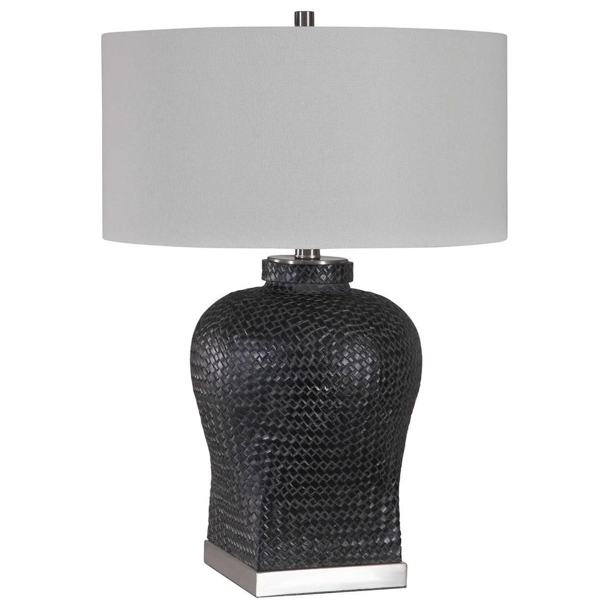 Table Lamps Akello Weave Texture Table Lamp by Uttermost at Goffena Furniture & Mattress Center