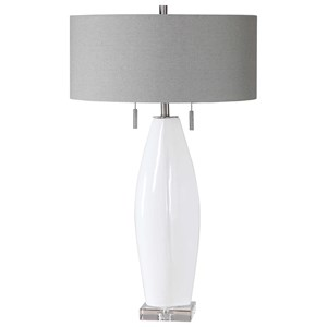 Laurie White Ceramic Table Lamp