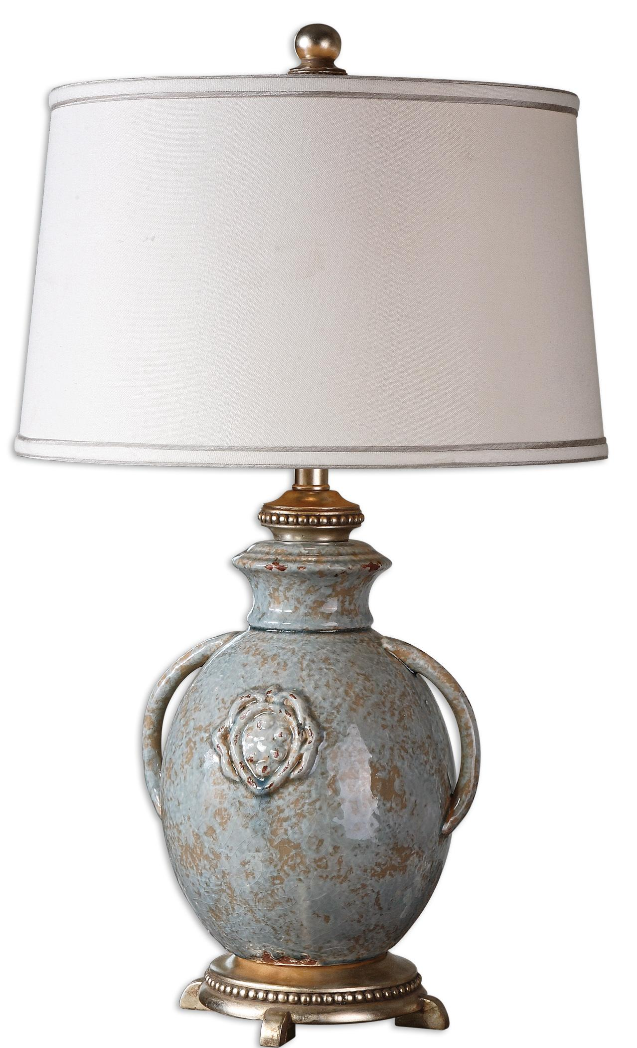 Table Lamps Cancello Blue Glaze Lamp by Uttermost at Mueller Furniture