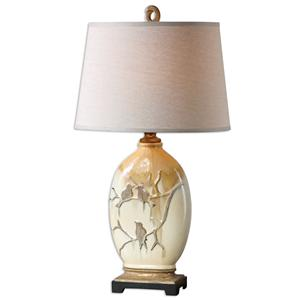 Uttermost Table Lamps Pajaro Aged Ivory Lamp