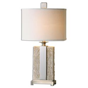 Uttermost Table Lamps Bonea Stone Ivory Table Lamp