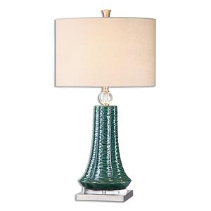 Uttermost Lamps Gosaldo Textured Teal Table Lamp