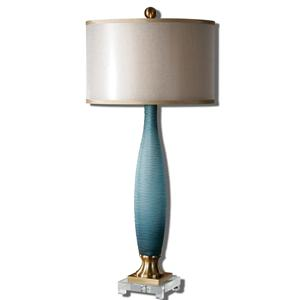 Uttermost Lamps Alaia Blue Glass Table Lamp