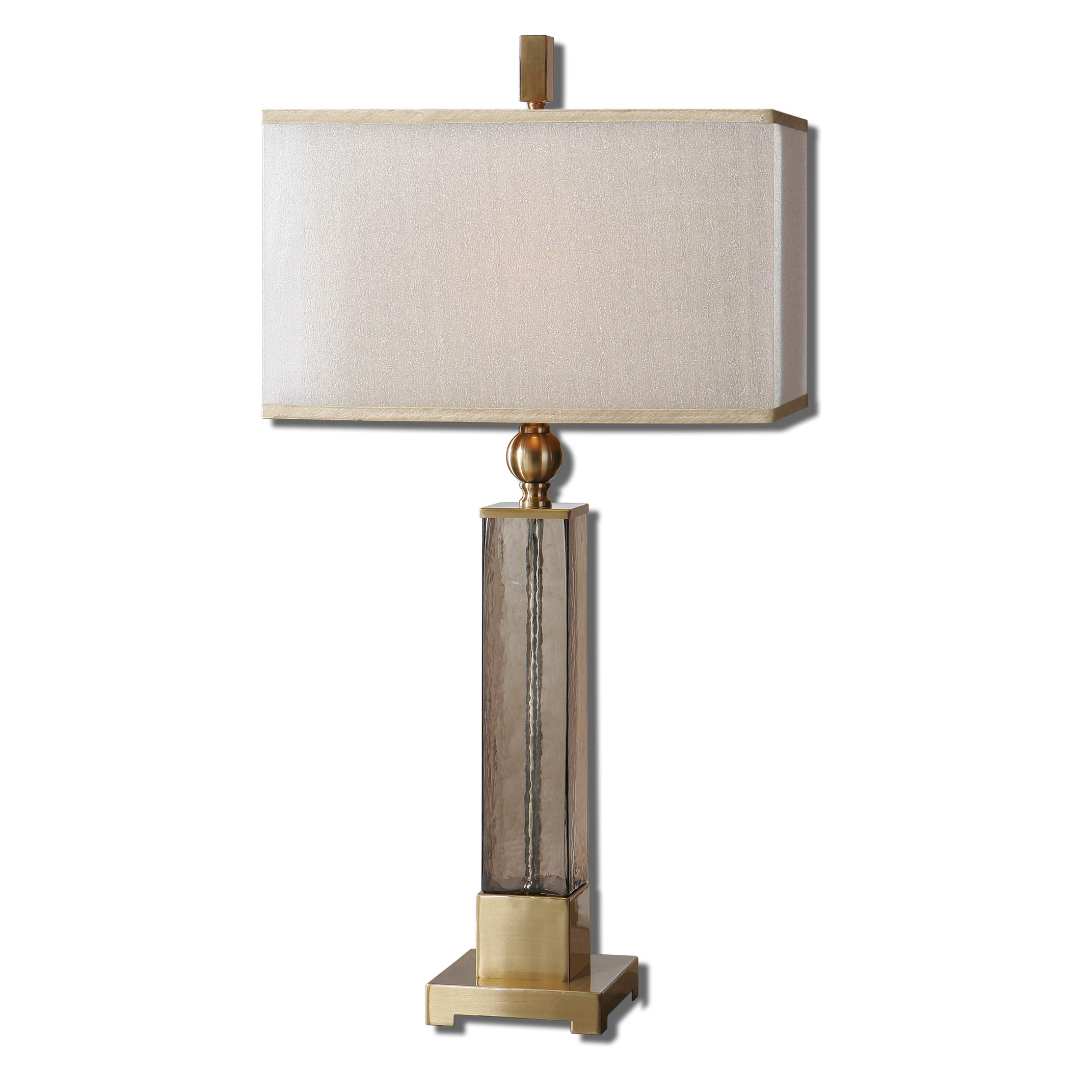Table Lamps Caecilia Amber Glass Table Lamp by Uttermost at Mueller Furniture