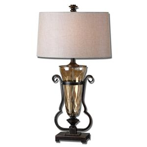 Uttermost Table Lamps Aemiliana Amber Glass Table Lamp