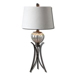 Uttermost Table Lamps Cebrario Mercury Glass Table Lamp