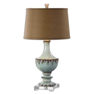 Uttermost Lamps Molara Aged Blue Table Lamp