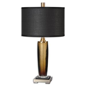 Uttermost Table Lamps Circello Textured Glass Table Lamp