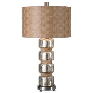 Uttermost Table Lamps Cerreto Mercury Glass Table Lamp