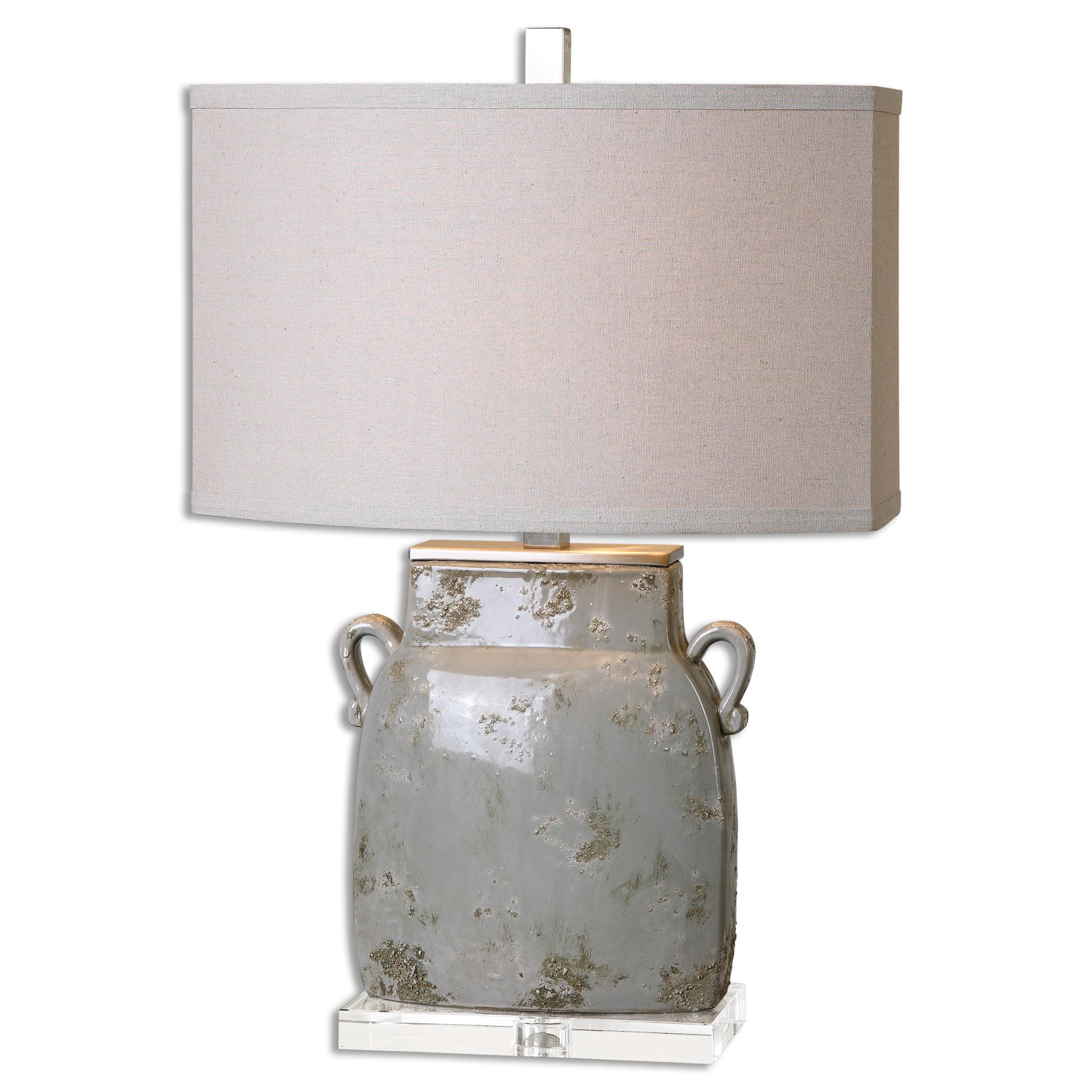 Table Lamps Melizzano Ivory-Gray Table Lamp by Uttermost at Suburban Furniture