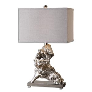 Uttermost Table Lamps Rilletta Metallic Silver Table Lamp