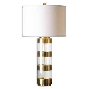 Uttermost Lamps Angora Brushed Brass Table Lamp